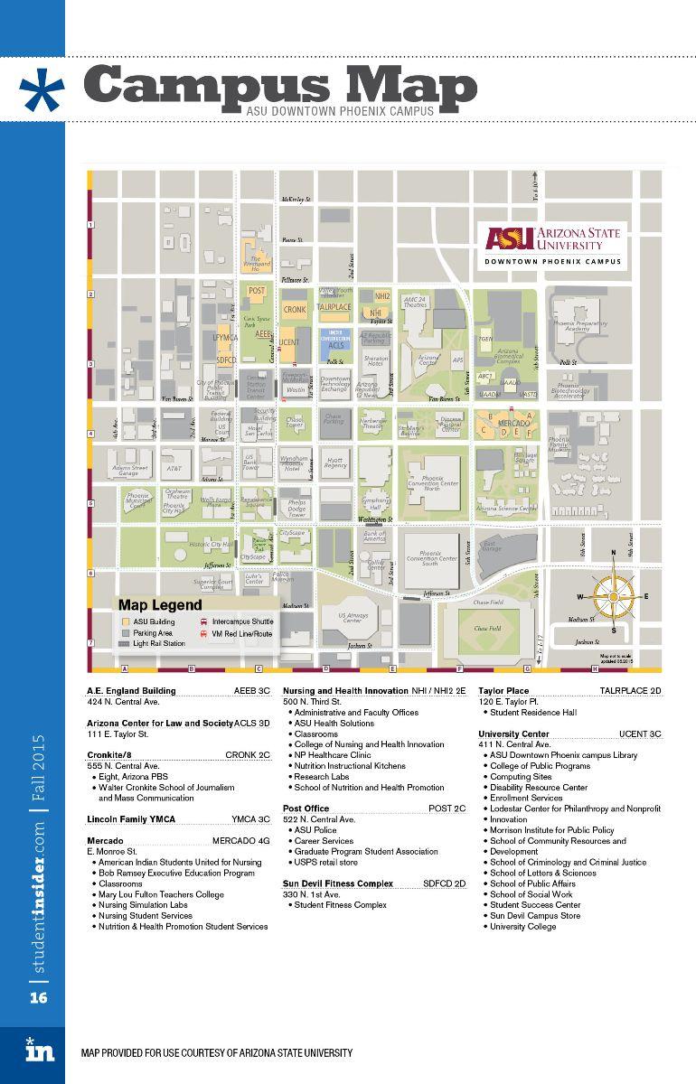 university of phoenix campus map Map Of Arizona State University Map Of The Asia university of phoenix campus map